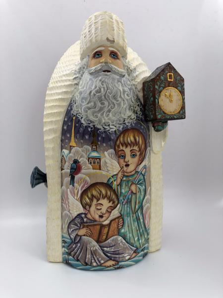 Santa Figure with Angels and Watches