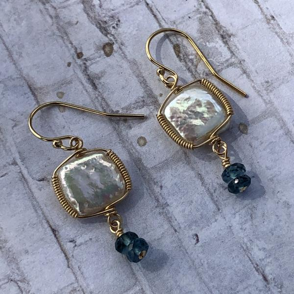 Clouds and Sky Earrings picture
