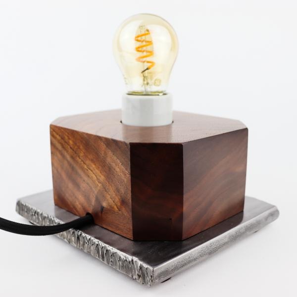 walnut and steel mood/night light picture