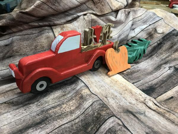 Red Truck - Tabletop, w/ 3 inserts picture
