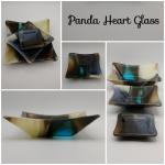 Panda Heart Glass