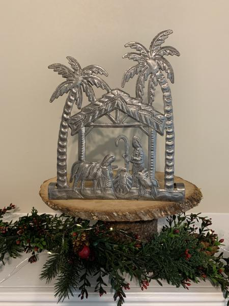 Nativity with Palm Trees