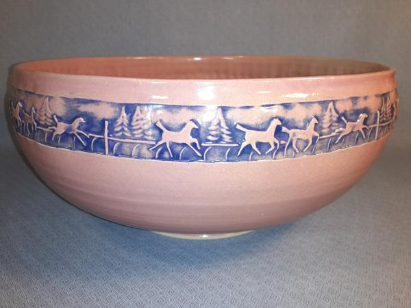 "11 1/2"" Round Bowl in Sea Coral"