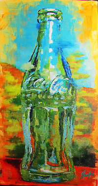 Coke Bottle No. 2 - Giclee Canvas Print