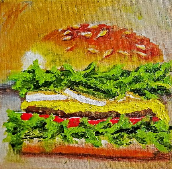 Cheeseburger No. 1 - Original Oil Painting