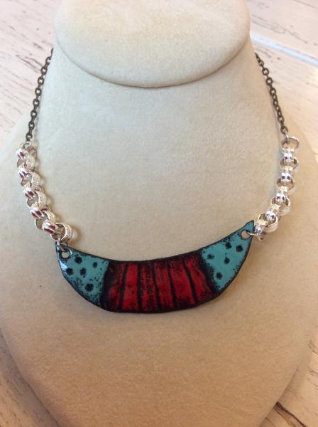 Mixed Metals Enamel Necklace