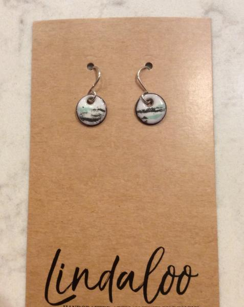 Small Round Enamel Earrings