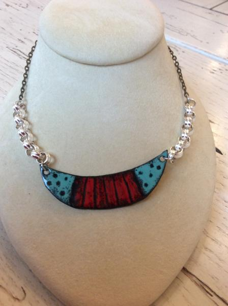 Mixed Metals Enamel Necklace picture