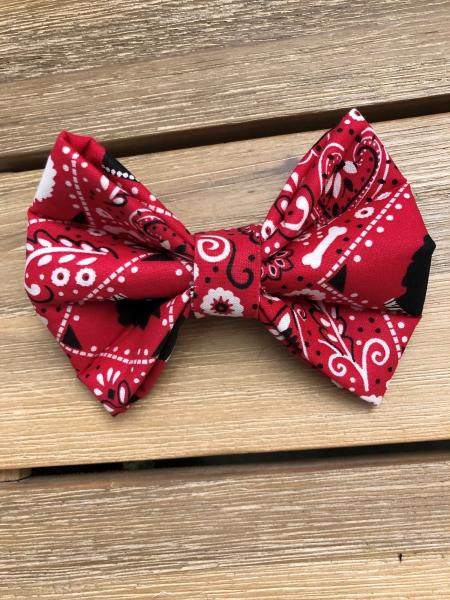PET BOW TIE: Black & Red