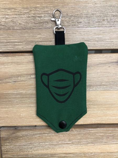 FABRIC MASK POUCH: Forest Green