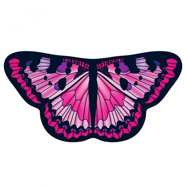 Childrens Butterfly Wings Kids Pink Painted Lady Cape Dress Up Dance Costume Wings