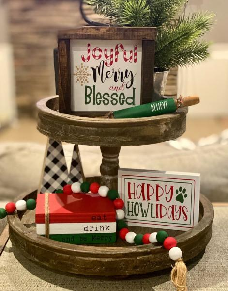 Joyful Merry and Blessed-5 Piece Christmas Set