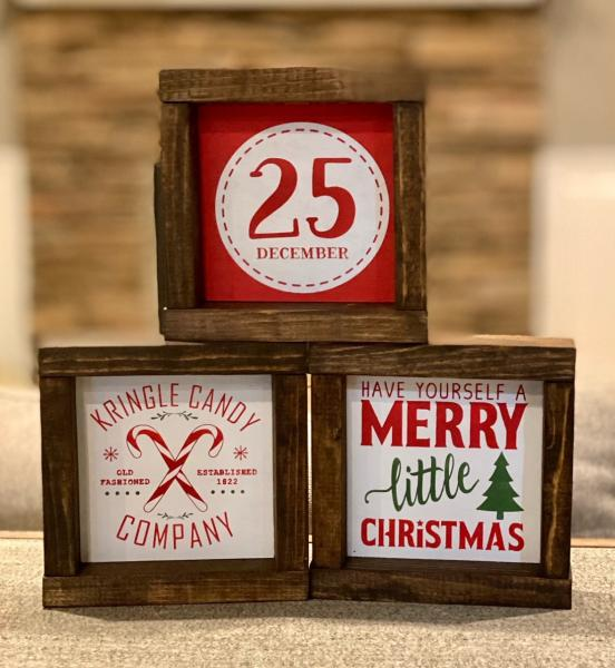 Christmas 6X6 Framed Wood Sign picture