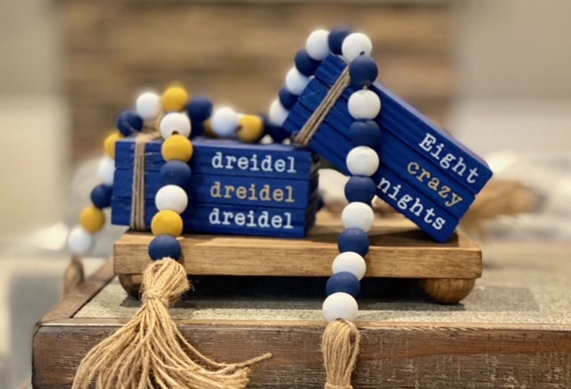 Hanukkah Wood Beaded Garland