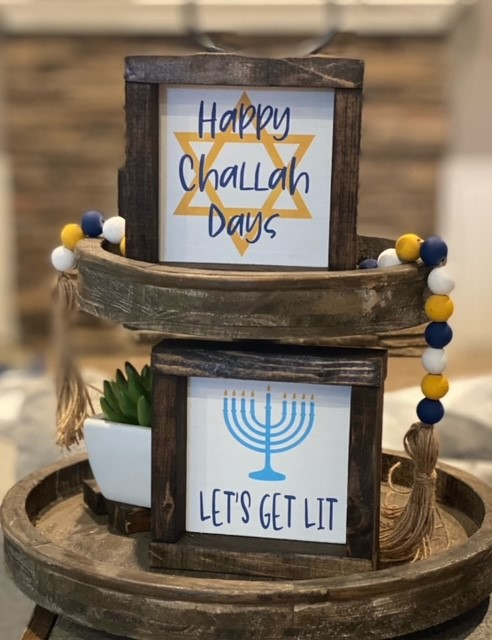 Framed 6X6 Framed Hanukkah Signs
