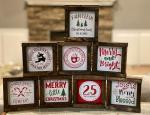 Christmas 6X6 Framed Wood Sign