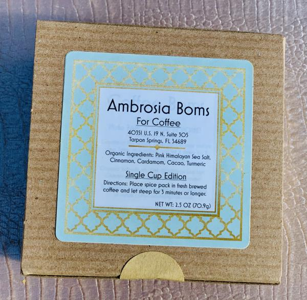 3 boxes! Ambrosia Boms for Coffee Single Cup Edition