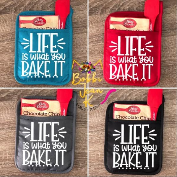 Life is What You Bake It Pot Holder Gift Set