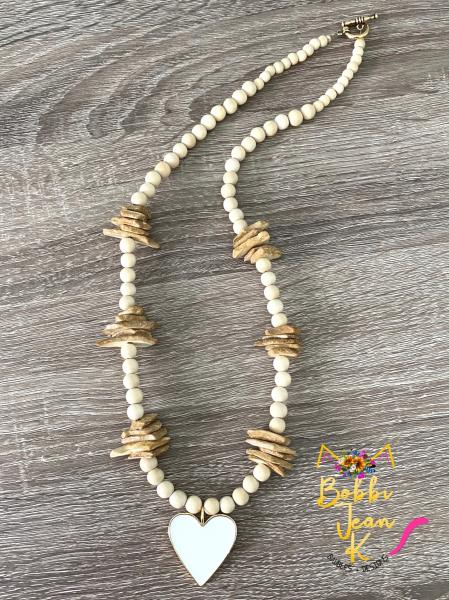 The Amore Wood Bead Necklace