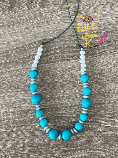 The Everyday Necklace: Turquoise & White