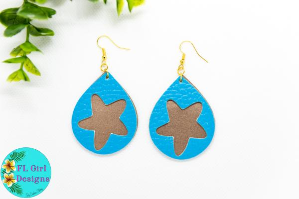 Blue and Gold Double Layered Starfish