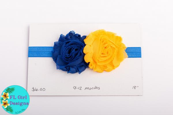 Blue & Yellow Flowers / 9-12 months