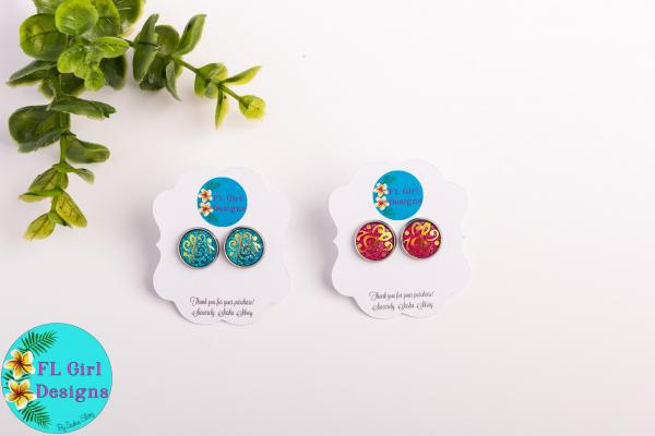 Music Notes Druzy Studs