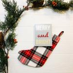 Merry & Bright Handcrafted Wooden Passport Sign