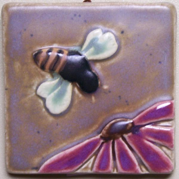 3x3 Bee and Flower Tile