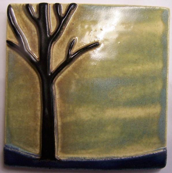 4x4 Tree Silhouette Tile