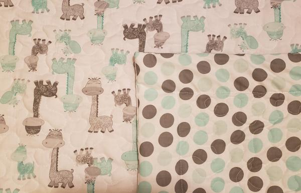 "Dinosaur Baby/Toddler Blanket/Quilt - Approx 33"" x 41"""