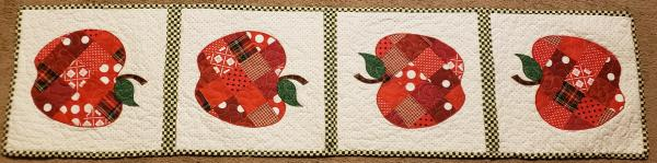 "Colorful Fall/Apple Table Runner - 15-1/2"" x 65"""