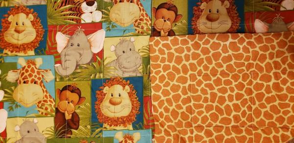 "Jungle Babies Baby/Toddler Blanket/Quilt - Approx. 34"" x 40"""