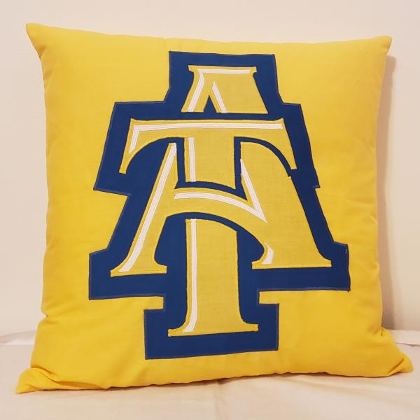 "Appliqued Collegiate Decorative Throw Pillow - 18"" x 18"" Pillow Insert Included"