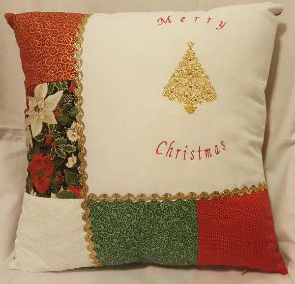 "Festive Decorative Christmas Tree Pillow - 18"" x 18"" Pillow Insert Included"