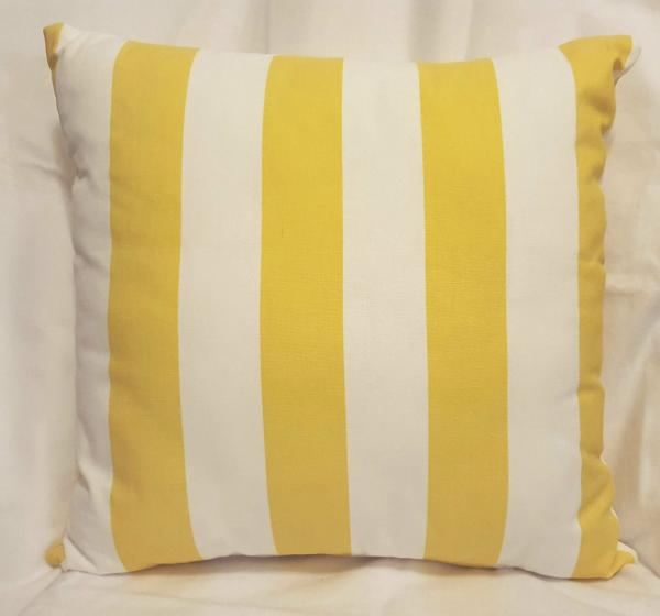 "100% Cotton Duck Cloth Decorative Pillow - 18"" x 18"" Pillow Insert Included"