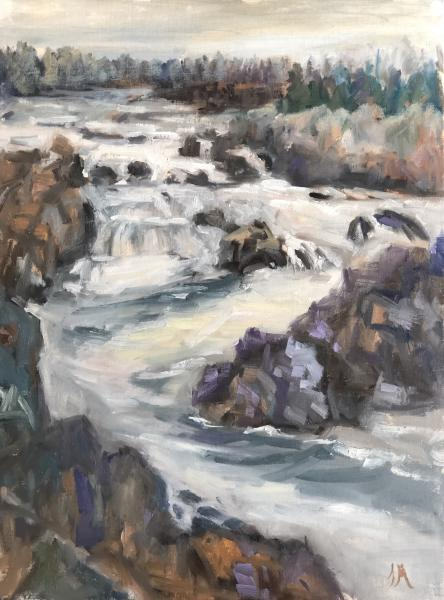 "Great Falls 16""x12 oil on panel"