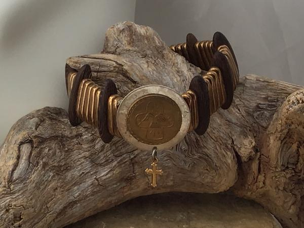 Vintage Assemblage, bronze and Gold criss