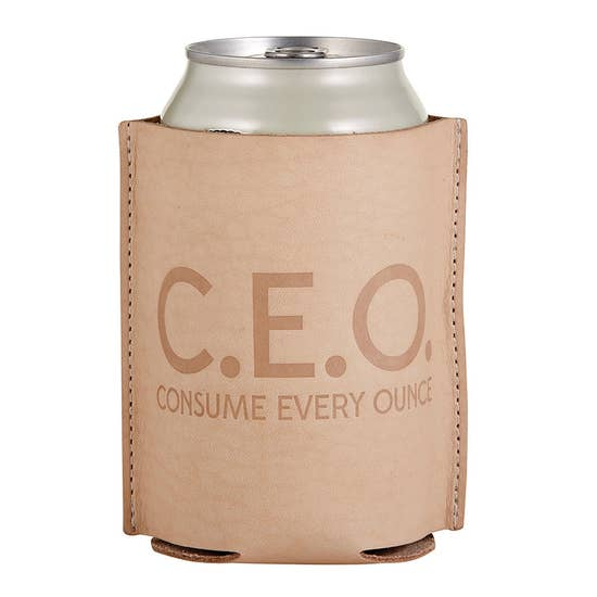 CEO Leather Koozie