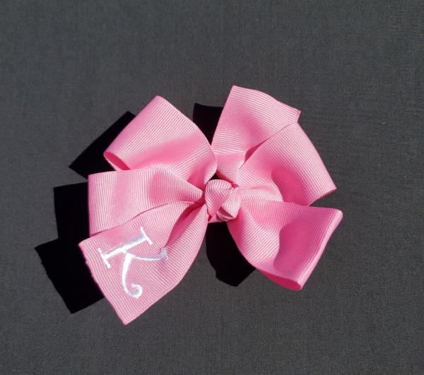 Pixie Pink Monogrammed Hair Bow