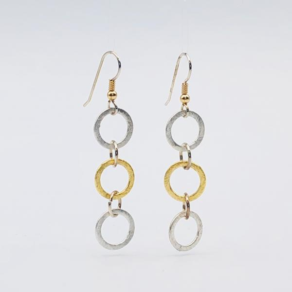 Infinity Circle Lightweight Statement Earrings by DianaHDesigns. One-of-a-kind and trendy in silver/gold tones w/ sterling silver ear wires