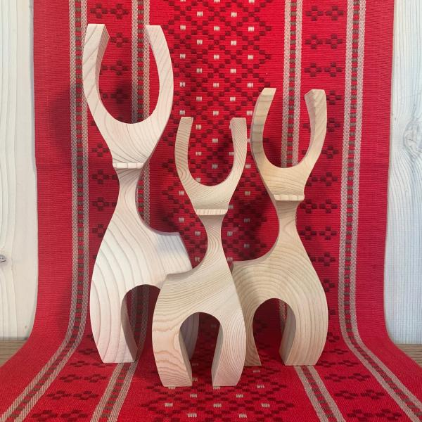 Scandinavian Design Deer - Family of 3
