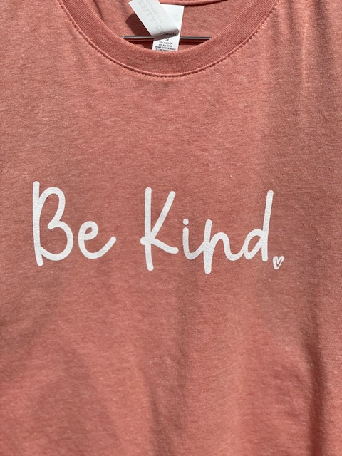 """Be Kind"" - Women's Heathered Pink Crop Tank picture"