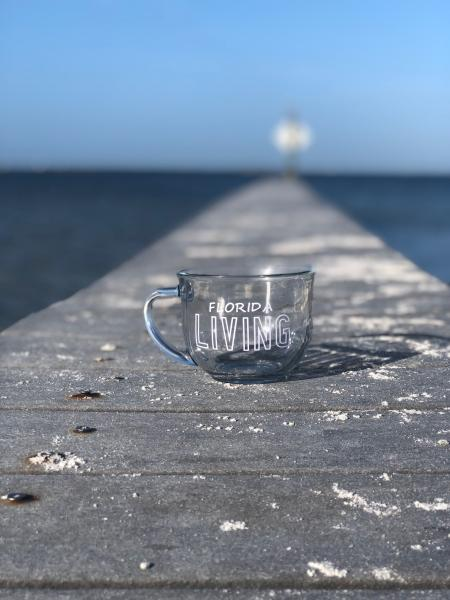 Florida Living - 18oz Clear Glass Mug