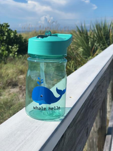 Whale hello - Kids water bottle 13oz