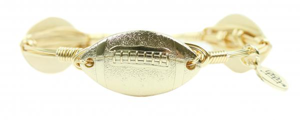 Gold Football Bangle Bracelet