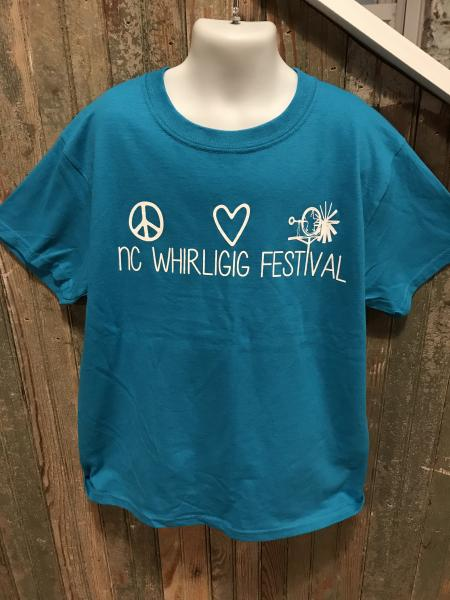 Kid Festival Teal  Short sleeve T-shirt