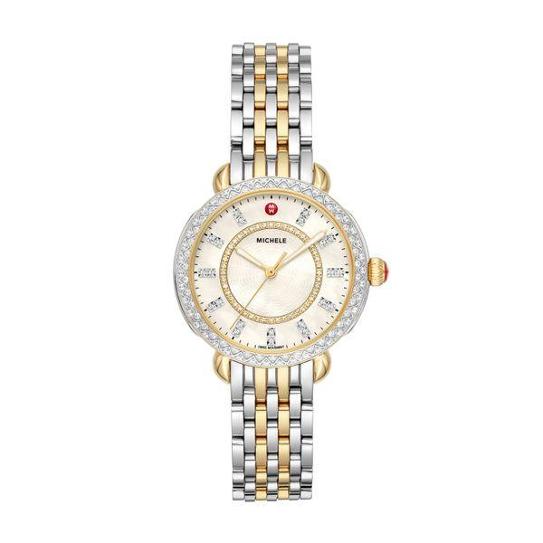 Michele Sidney Classic Two-Tone Diamond Complete Watch picture
