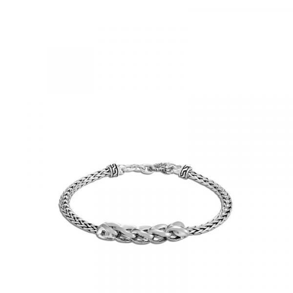 JOHN HARDY CLASSIC CHAIN LINK SILVER SLIM CHAIN BRACELET 3.5MM W/LOBSTER CLASP