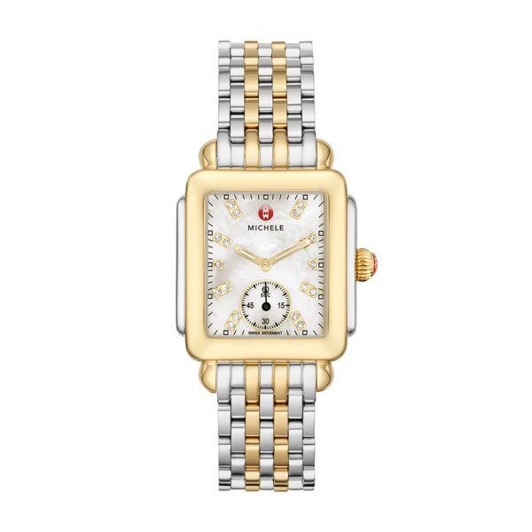 Michele Deco Mid Two-Tone, Diamond Dial on Two-Tone Bracelet Complete Watch picture
